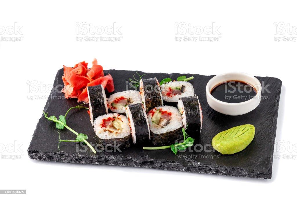 Photo libre de droit de Concept De Cuisine Japonaise Rouler ...