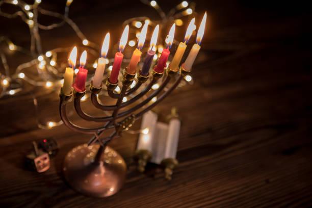 Concept of jewish holiday Hanukkah stock photo