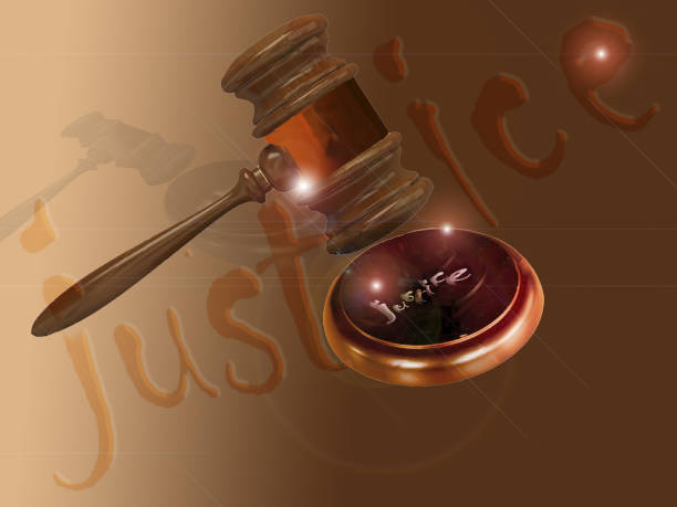 concept of justice with the gavel of the judge - supreme court стоковые фото и изображения