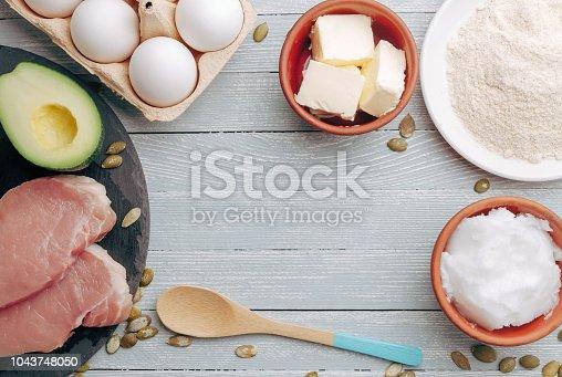 939018232 istock photo Concept of ketogenic diet 1043748050