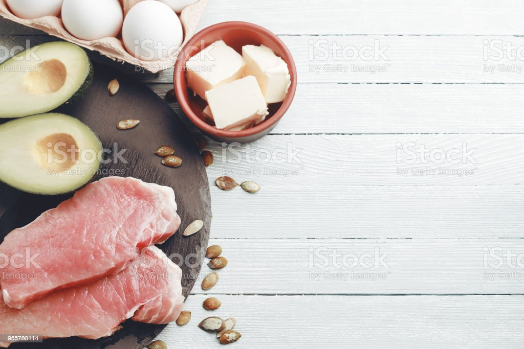Concept of ketogenic diet royalty-free stock photo