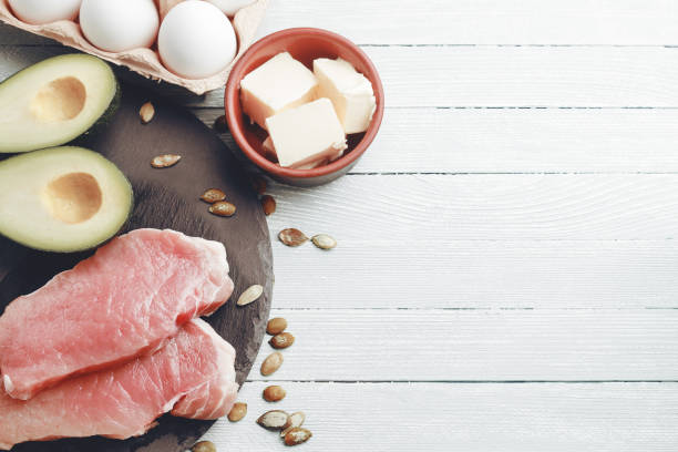 Concept of ketogenic diet stock photo