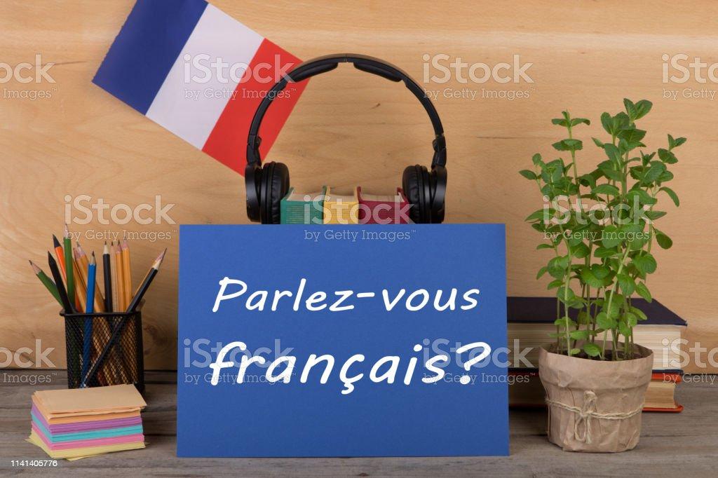 Photo Libre De Droit De Concept Dapprentissage Francais