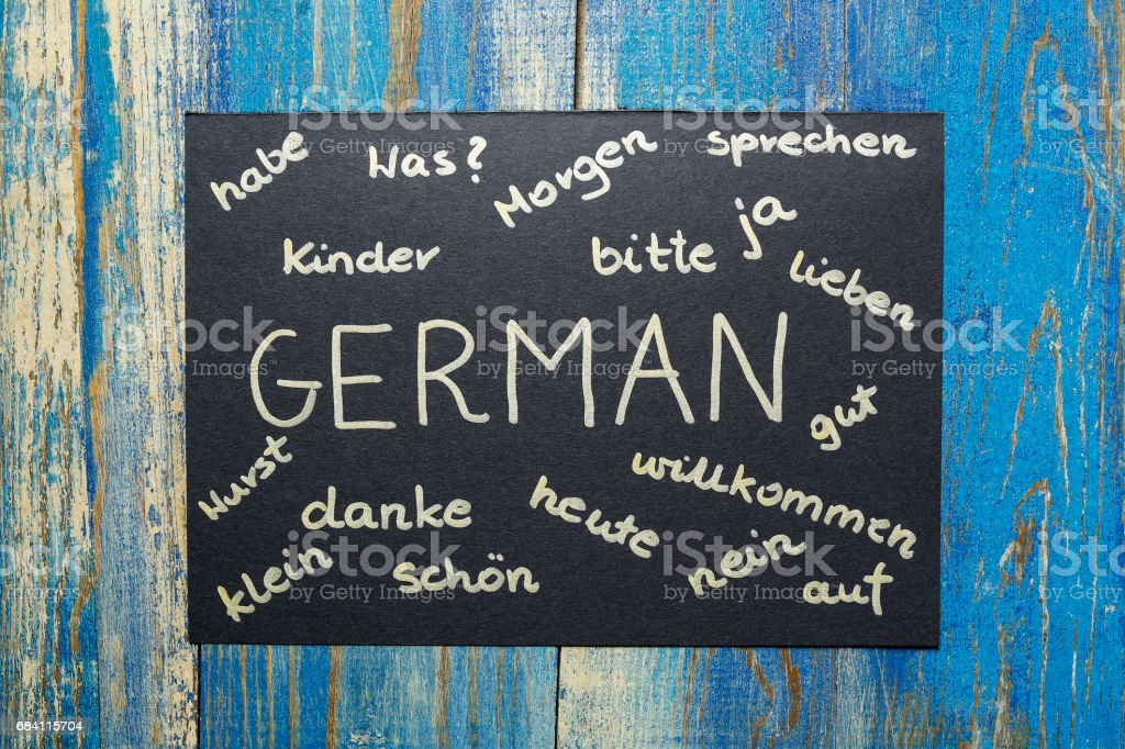 concept of learning german language stock photo