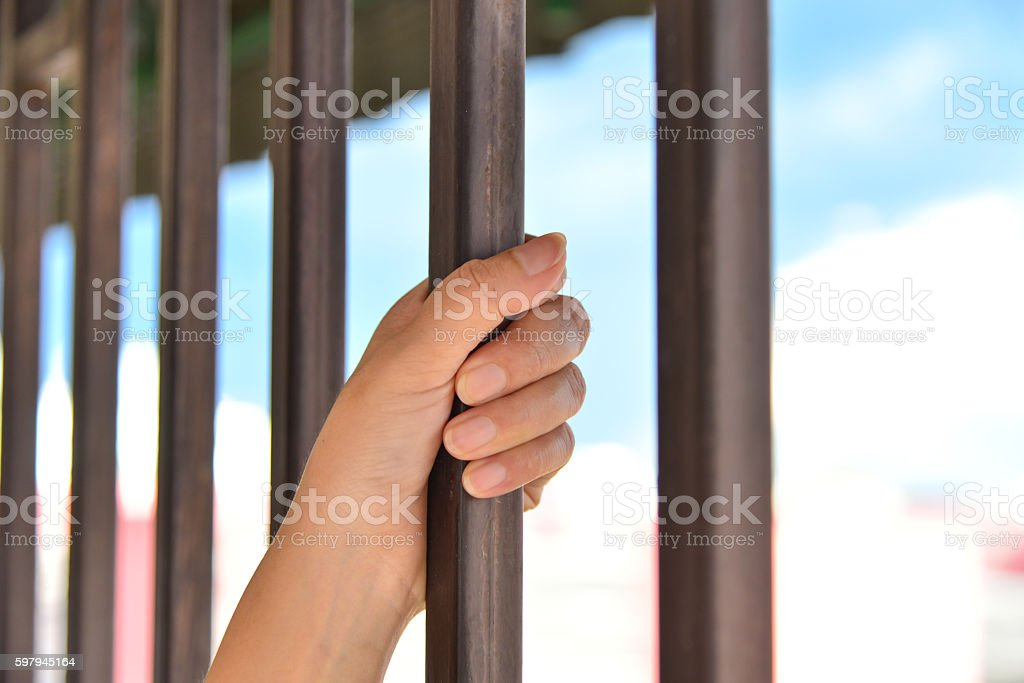 concept of life imprisonment stock photo