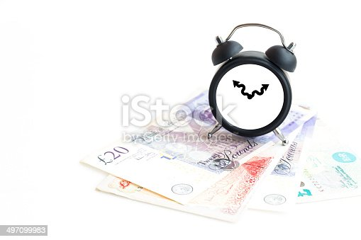 885959540 istock photo Concept of make money time isolated on white 497099983