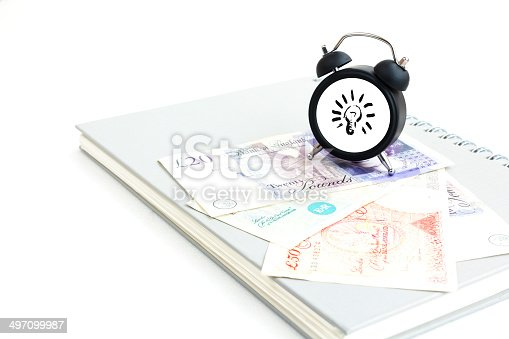 885959540 istock photo Concept of make money time isolated on white 497099987