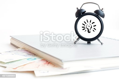 885959540 istock photo Concept of make money time isolated on white 497099993