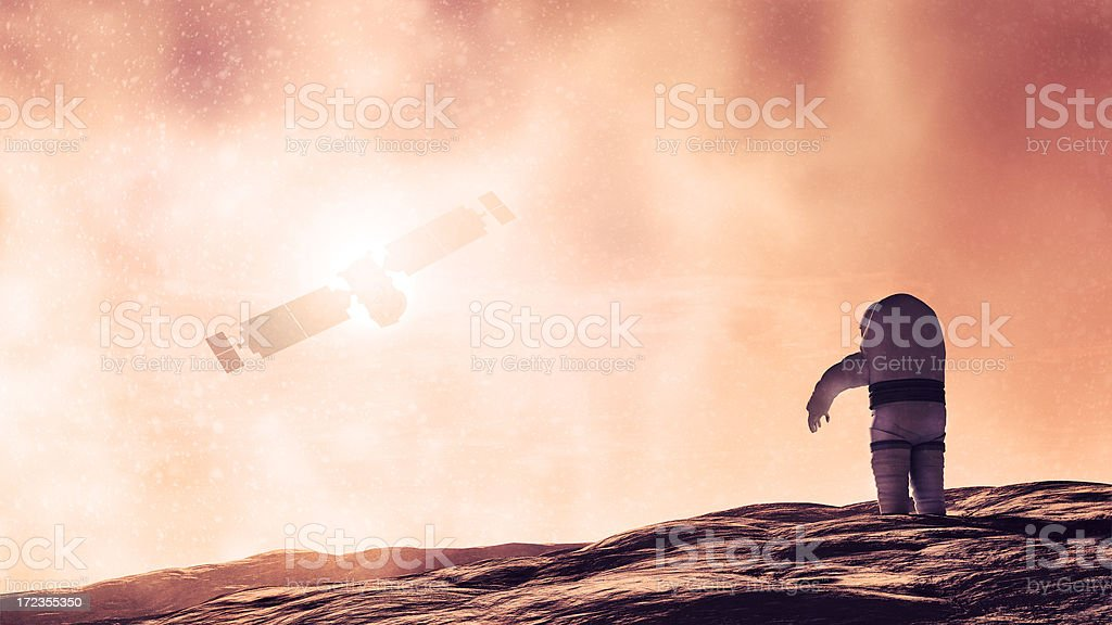 Concept of Mars exploration royalty-free stock photo