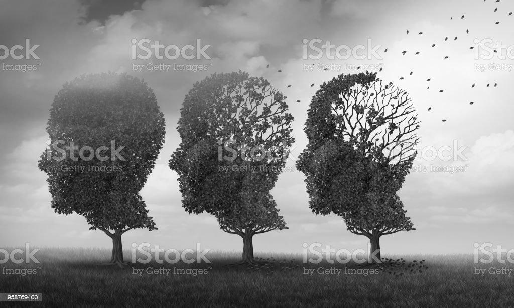Konzept der Gedächtnisverlust – Foto