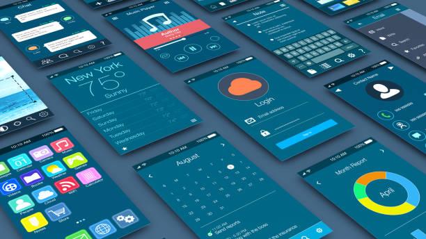 concepto de aplicaciones móviles - foto de stock