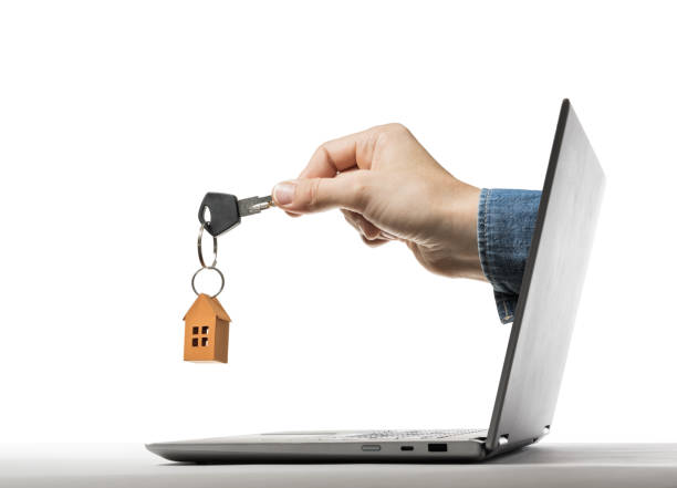 Concept of modern technologies in real estate industry. stock photo
