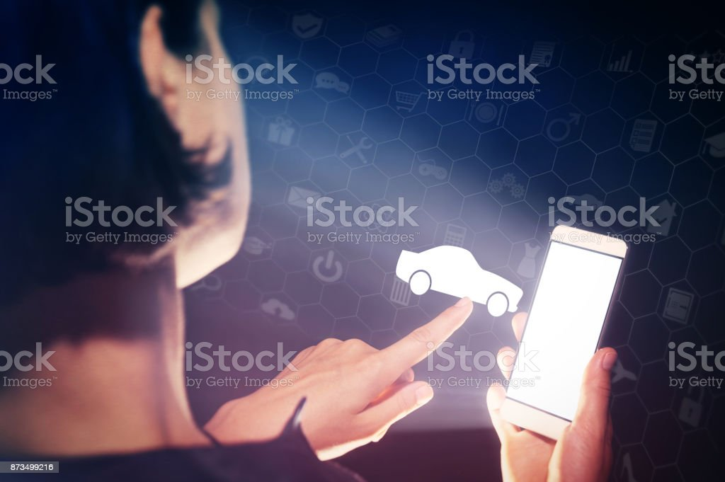 Concept of modern technology in transportation. stock photo