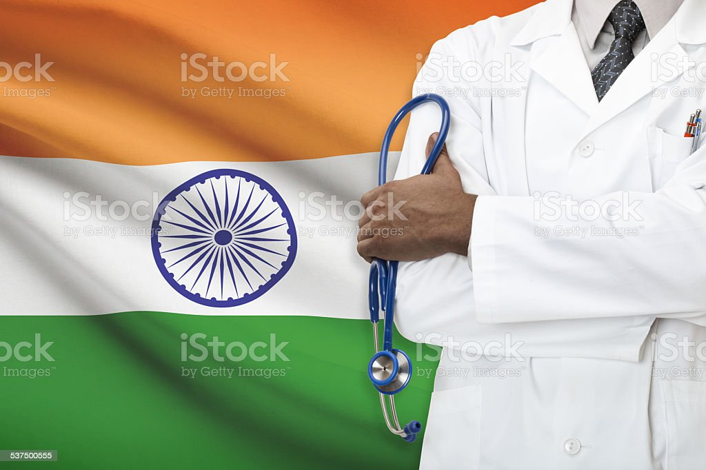 Concept of national healthcare system - India stock photo