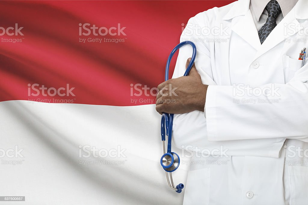 Concept of national healthcare system - Indonesia stock photo