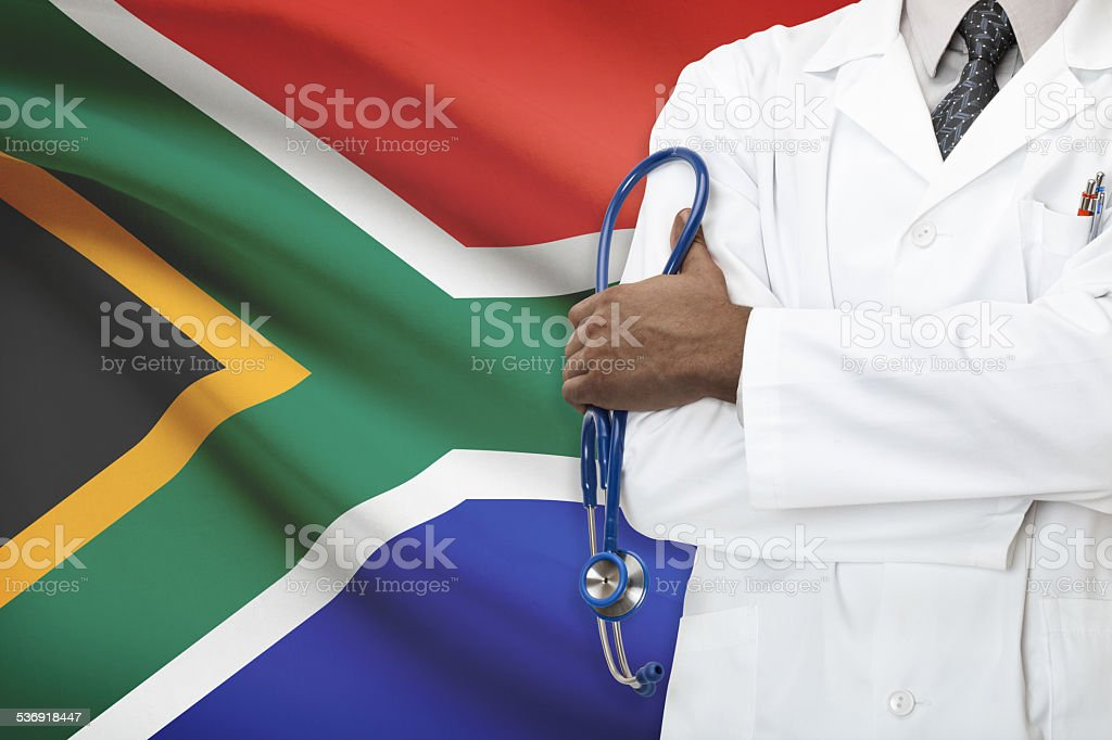 Concept of national healthcare system - South African Republic stock photo