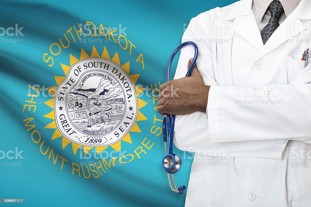 Concept of national healthcare system - South Dakota stock photo