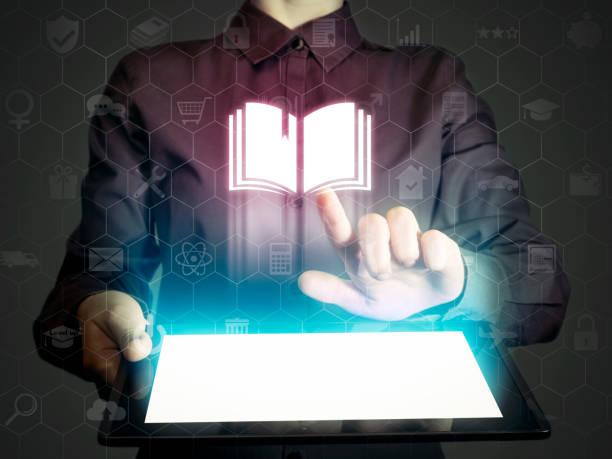 online-konzept: lernen, bibliothek, schule etc.. - publikation stock-fotos und bilder