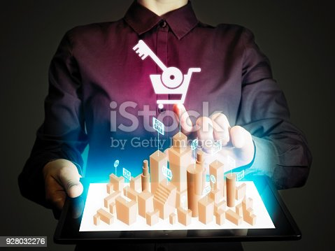 1023041738istockphoto Concept of online realtor. 928032276