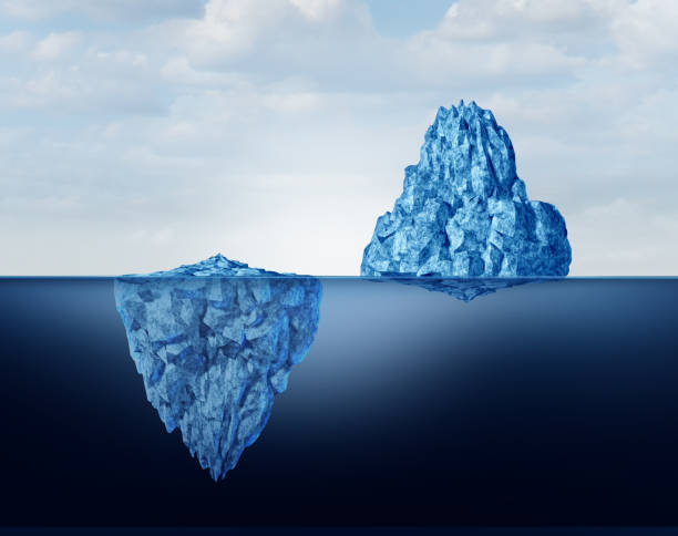 concept of perspective - iceberg stock photos and pictures