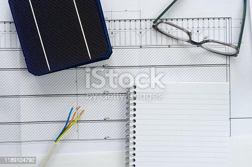 904490858 istock photo Concept of planning for photo voltaic project 1189104792