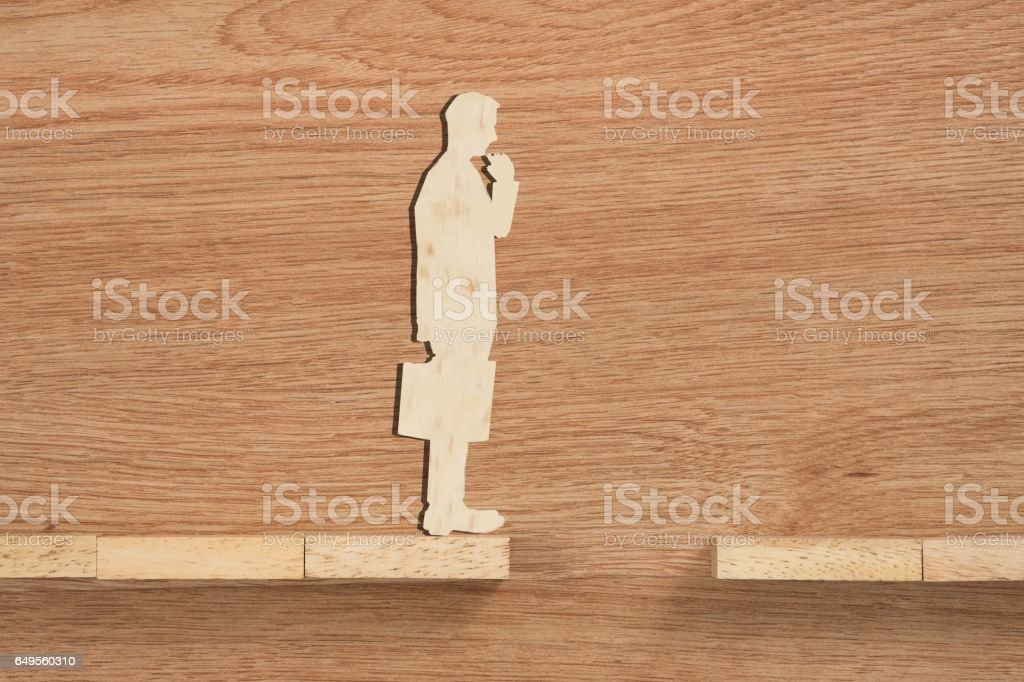 Concept of problem and difficulty of a businessman. stock photo