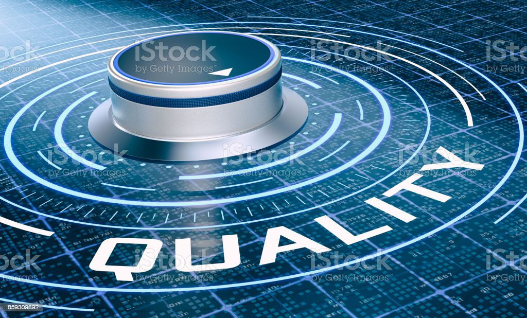 concepto de calidad - foto de stock