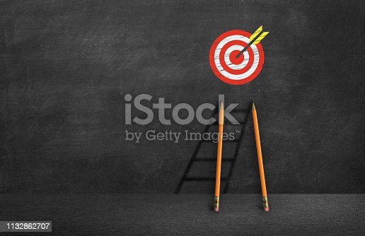 1014851458 istock photo concept of reaching the business goal 1132862707
