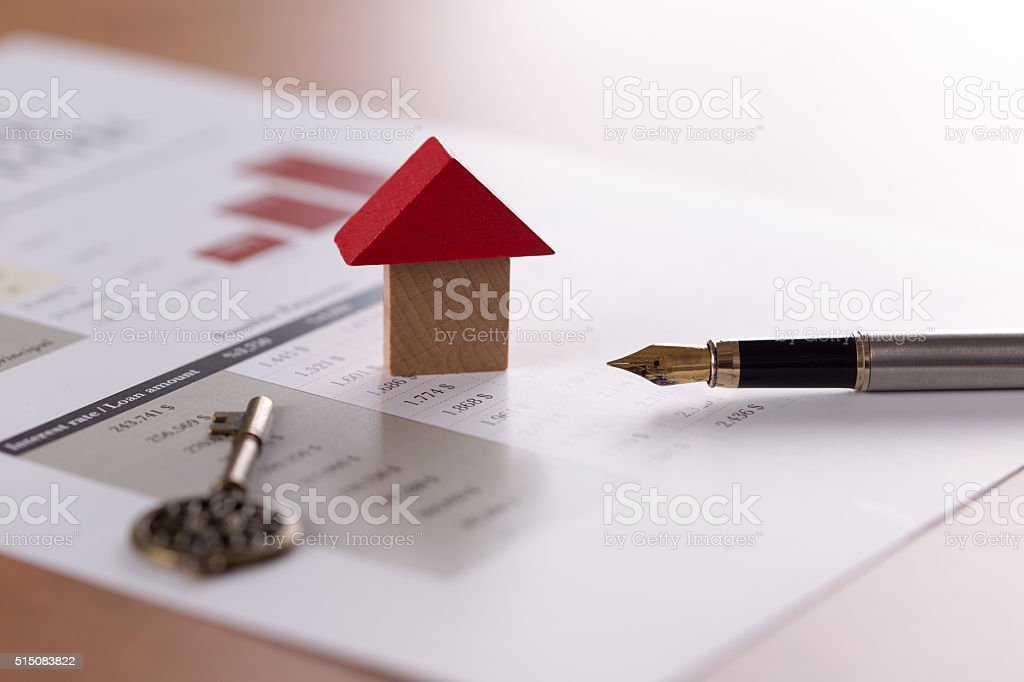 concept of real estate mortgage and lease stock photo