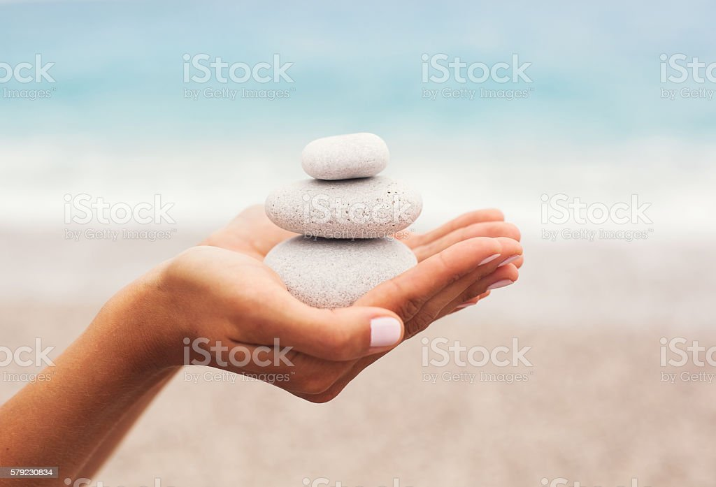 Concept of Relaxation and Balance stock photo