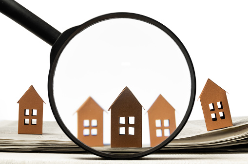 626187670 istock photo Concept of rent, search, purchase real estate. 1224665510