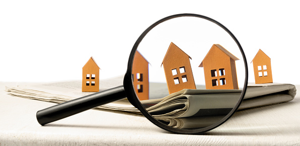 626187670 istock photo Concept of rent, search, purchase real estate. 1224665512