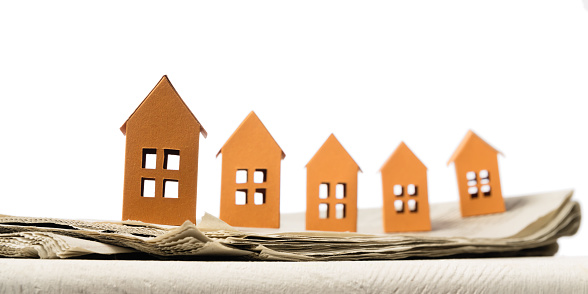 626187670 istock photo Concept of rent, search, purchase real estate. 1224665527