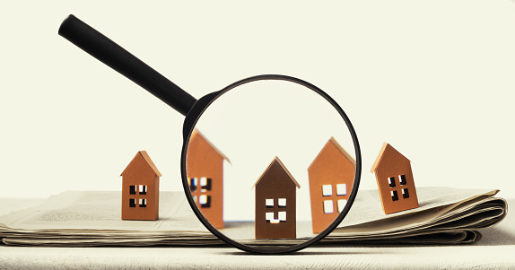 626187670 istock photo Concept of rent, search, purchase real estate. 1225833310