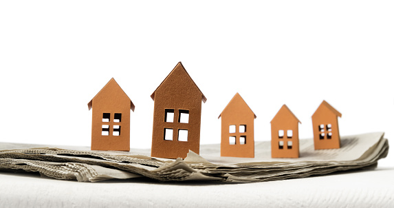 626187670 istock photo Concept of rent, search, purchase real estate. 1225833311