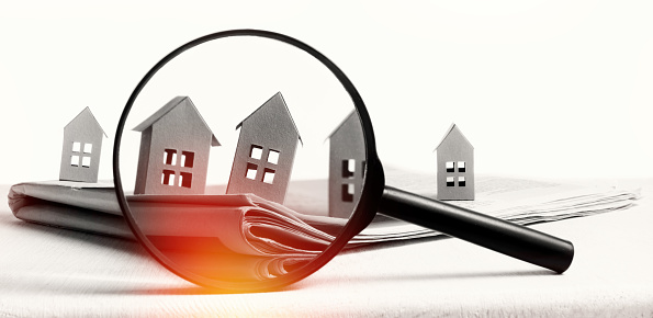 626187670 istock photo Concept of rent, search, purchase real estate. 1254842212