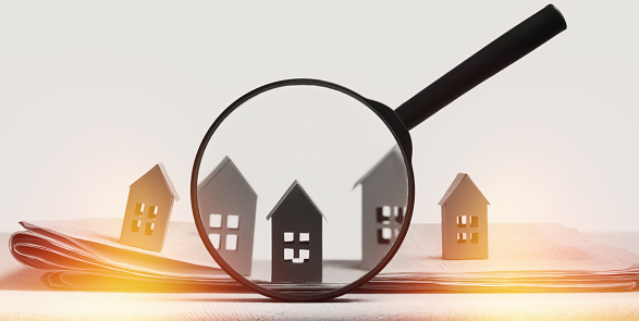 626187670 istock photo Concept of rent, search, purchase real estate. 1254842258