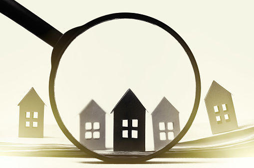 626187670 istock photo Concept of rent, search, purchase real estate. 1254842274