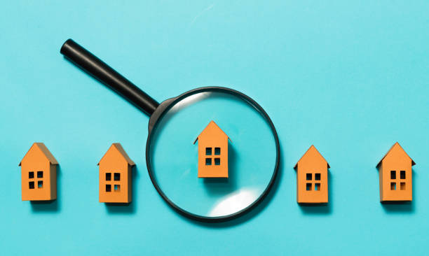 Concept of rent, search, purchase real estate. stock photo
