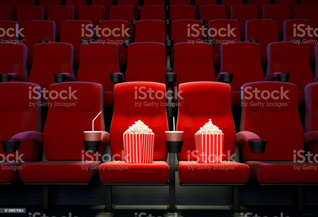 Concept of reserved seats stock photo