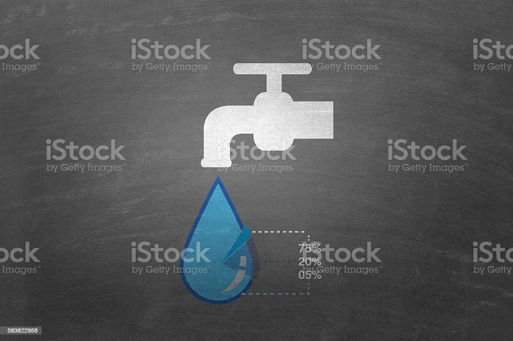 Concept of save water stock photo