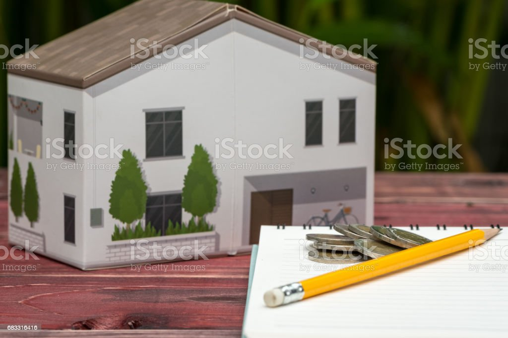 Concept of Saving and Mortgage. foto stock royalty-free