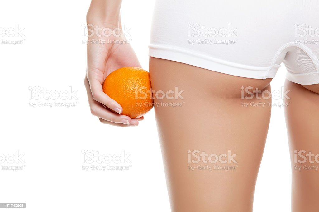 Concept of saying no to cellulitis stock photo
