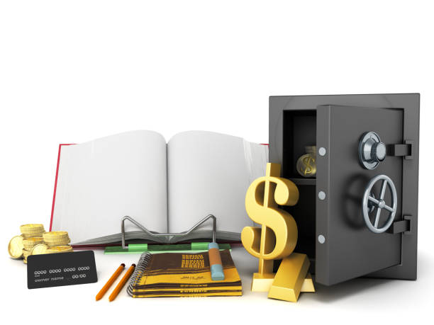 Concept of school and education economy economy 3d render on white background stock photo