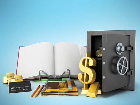 istock Concept of school and education economy economy 3d render on white background 851700320