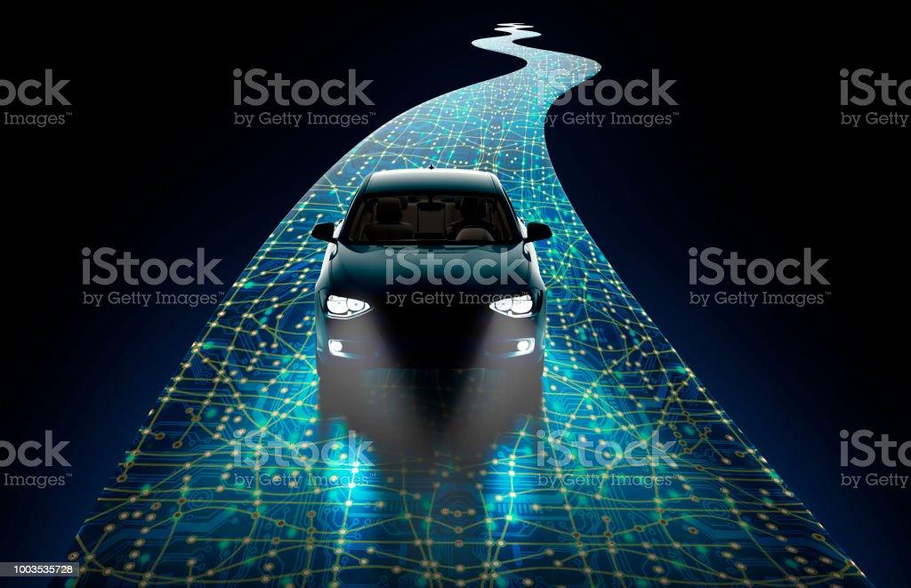 Konzept des Menschen fahren Auto – Foto