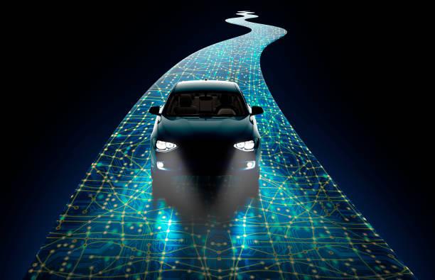 conceito de auto-dirigindo carro - meio de transporte - fotografias e filmes do acervo