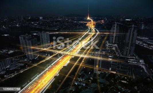 istock Concept of smart city network 1039692288