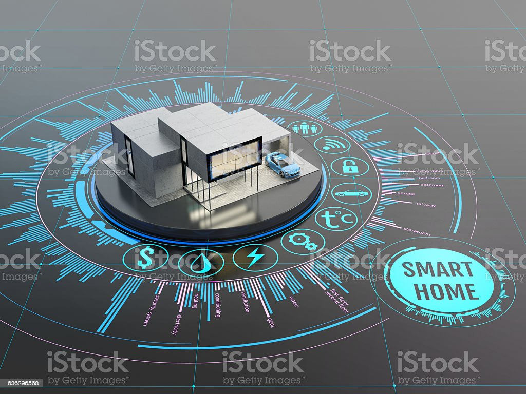 Concept of smart home stock photo