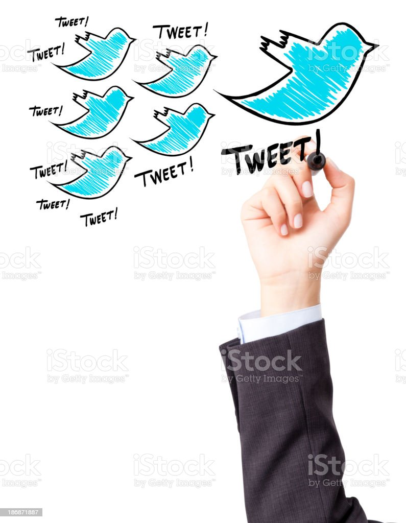Concept of social media sharing stock photo